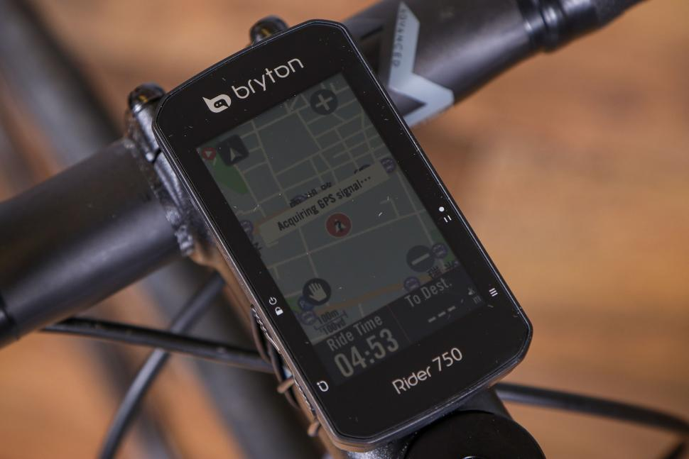 2021 Bryton Rider 750T GPS Cycle Computer Bundle With Speed-Cadence & Heart Rate Monitor - on bike 2.jpg