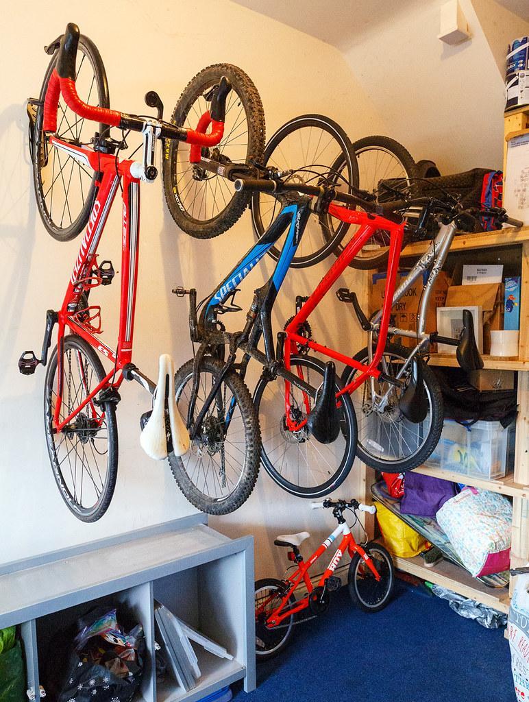 Large Bicycle Storage Hooks Wall Mount Bike Cycle Hanger Brackets PVC Coated