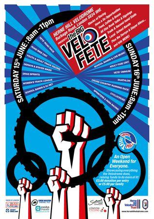 The Big Velofete, Herne Hill Velodrome Open Weekend, 15-16th June, London