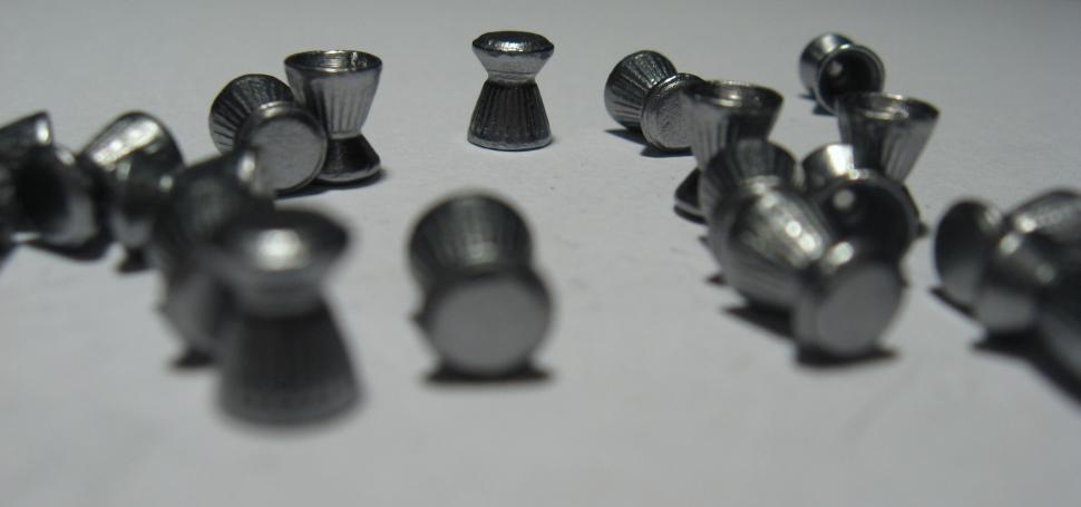 Air rifle pellets (Licensed CC BY-SA 3.0 Michał460)