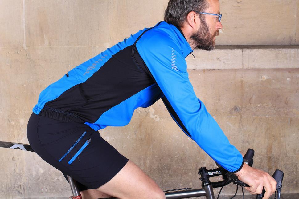 Aldi Mens Softshell Cycling Jacket - riding.jpg