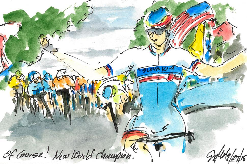 Art of Cycling by Greig Leach - Richmond 2015 UCI Road World Championships - Of Course.jpg