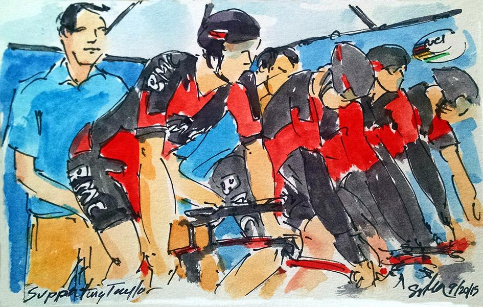 Art of Cycling by Greig Leach - Richmond 2015 UCI Road World Championships - Supporting Taylor.jpg