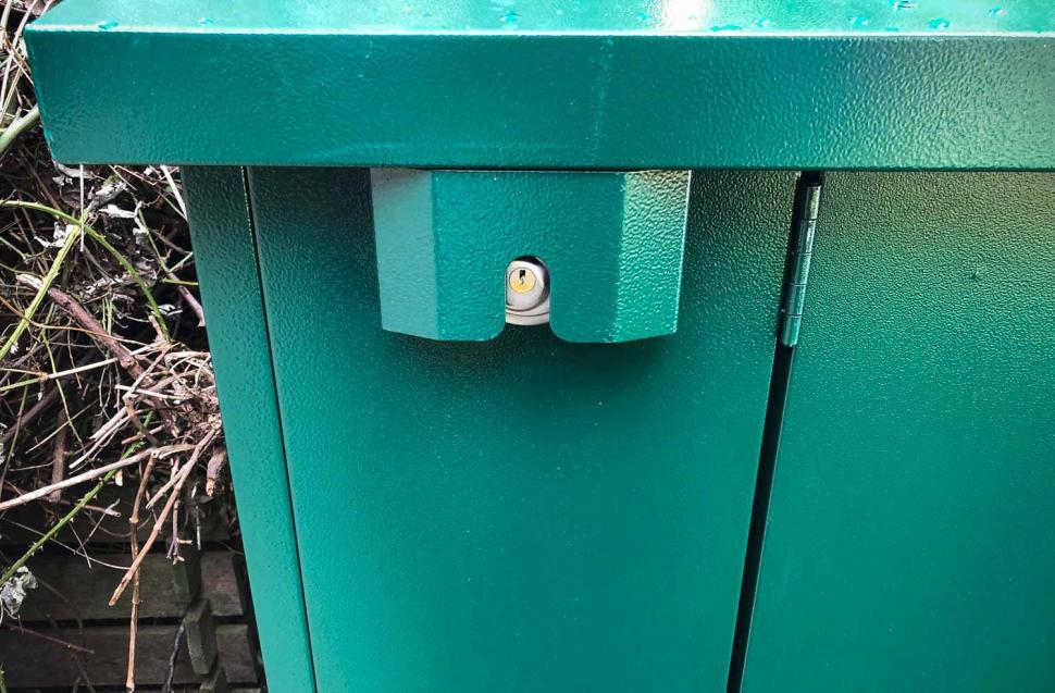 Asgard Access E Plus Bike Storage - lock guard.jpg