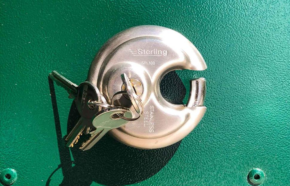 Asgard Access E Plus Bike Storage - lock.jpg
