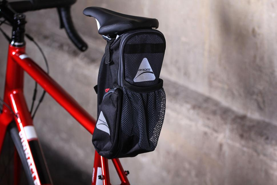 Black Road Tour Commuter Bike Axiom Bicycle Rider Saddle Seat Bag Small Grey