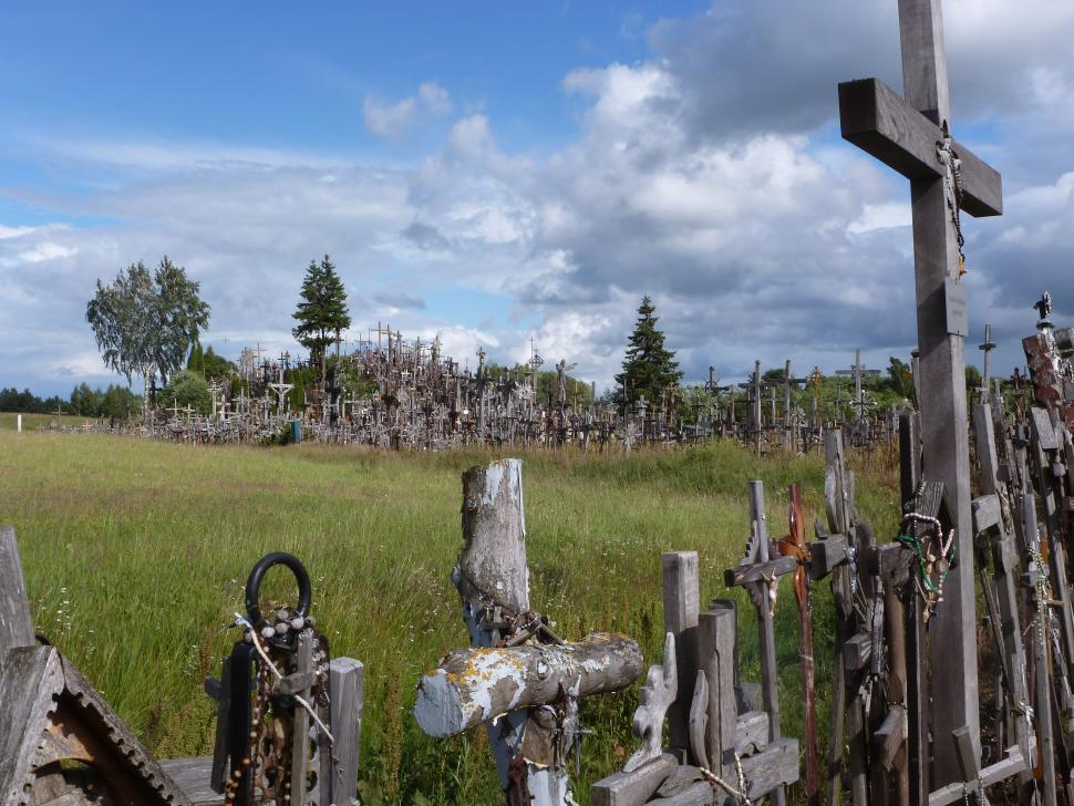 Baltics - Hill of crosses.JPG