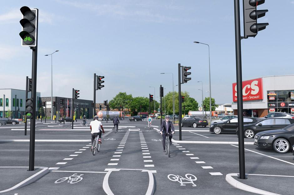 Beelines crossing visualisation (TfGM)