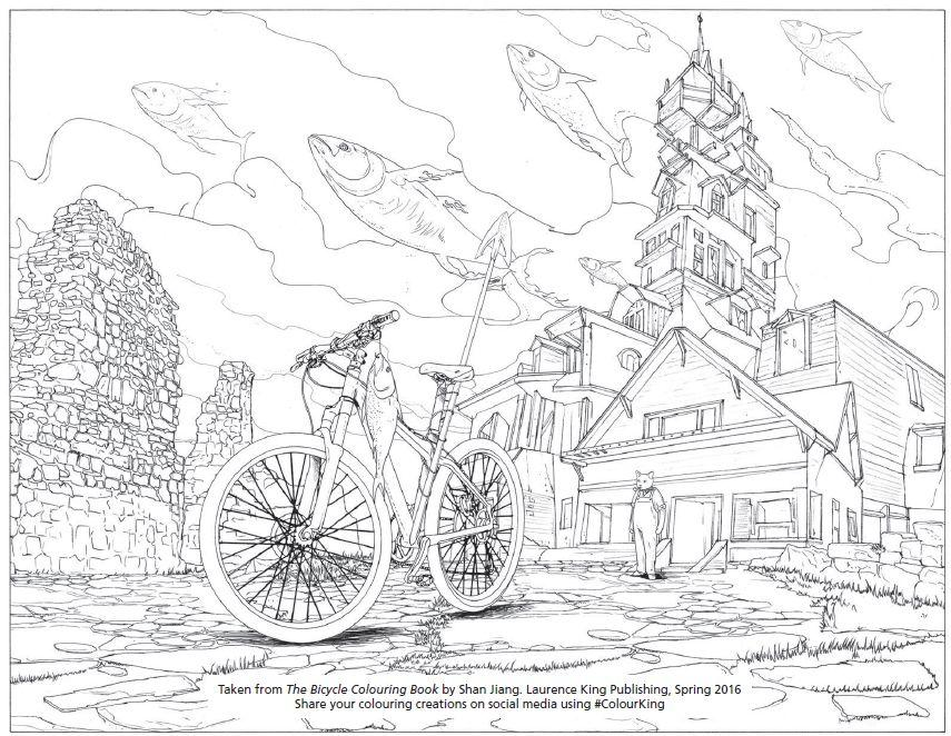 Bicycle Colouring Book Sample IllustrationJPG