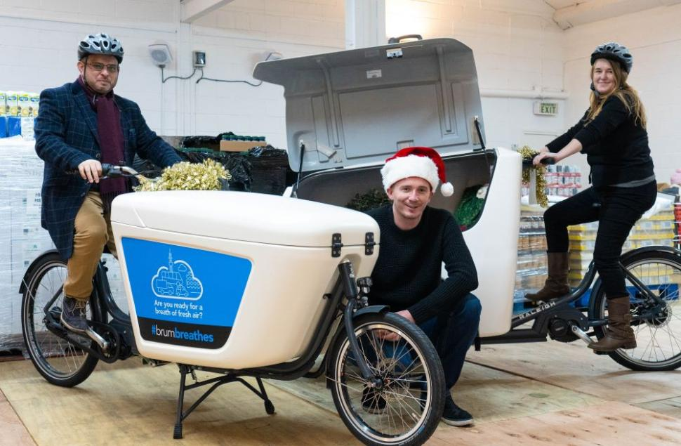 Birmingham launches e-cargo bikes in time for food deliveries to the vulnerable over Christmas