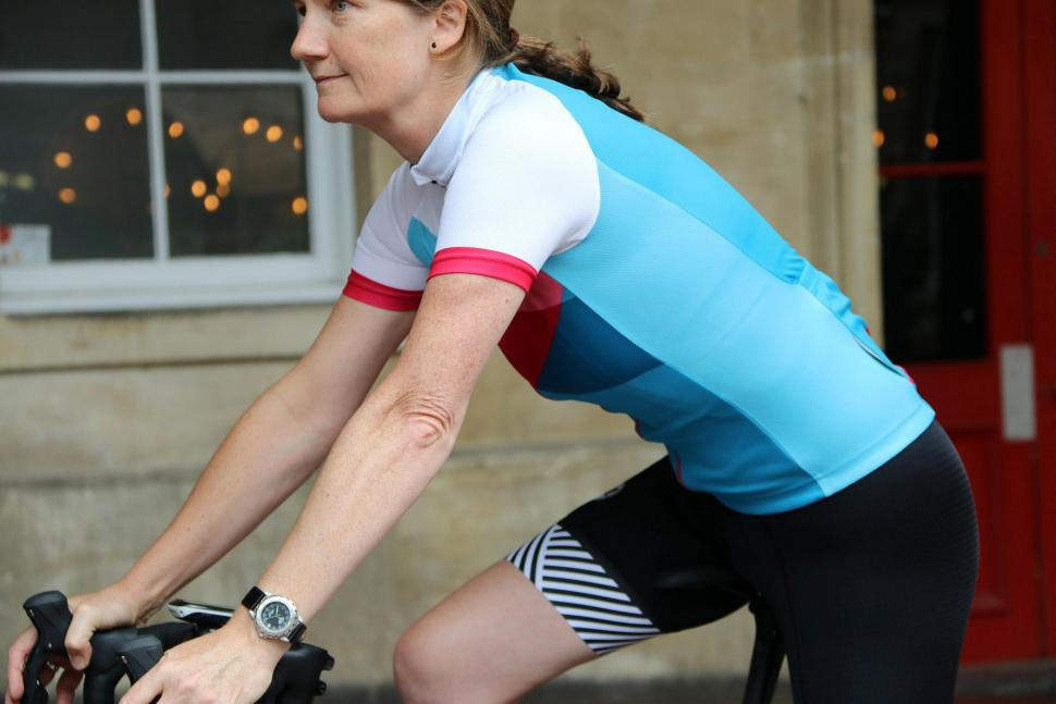 Boardman Womens Short Sleeve Jersey - riding.jpg