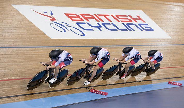 British Cycling logo at Lee Valley, World Championships 2016 (copyright Britishcycling.org_.uk).JPG