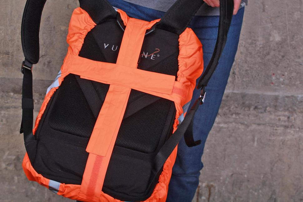 4fc7ff6a026f BTR Orange Waterproof High Visibility Backpack Cover - back.jpg