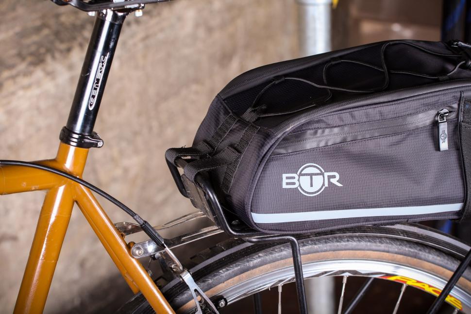 BTR Waterproof Bicycle Rear Rack Pannier Bike Bag - velcro straps.jpg