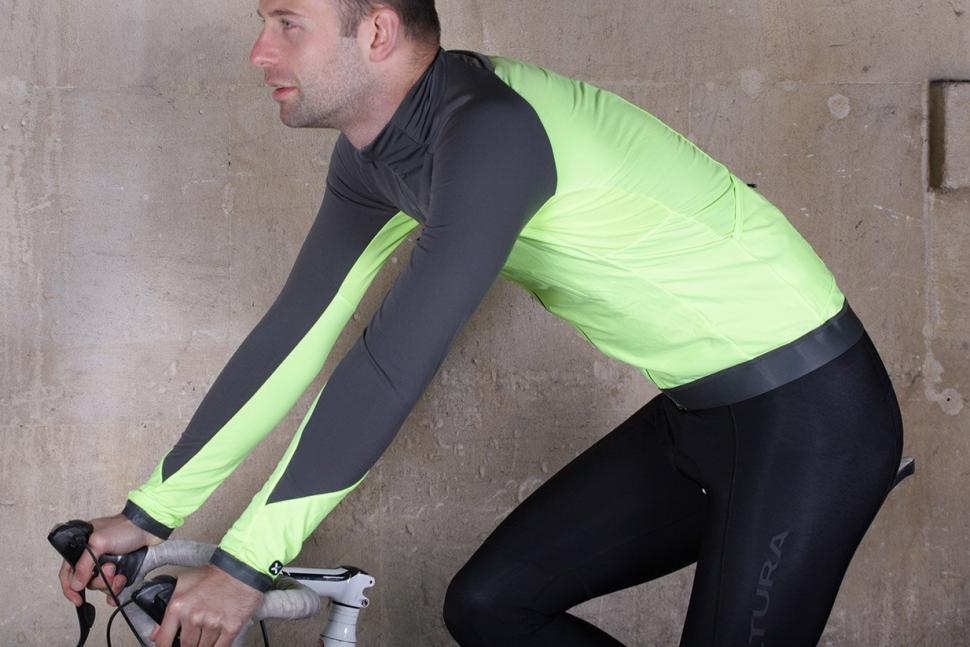 BTwin 700 Warm Long Sleeve Cycling Jersey - riding.jpg