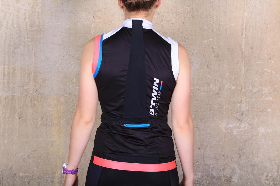 BTwin 700 Womens Sleeveless Cycling jersey - back.jpg