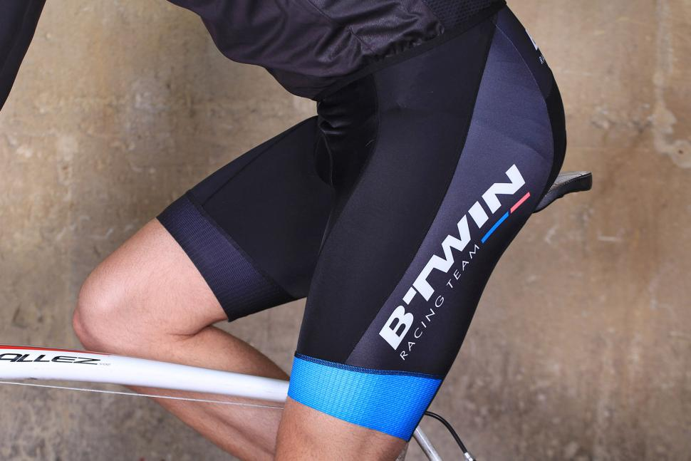 BTwin Aerofit Cycling Bib Shorts - riding.jpg