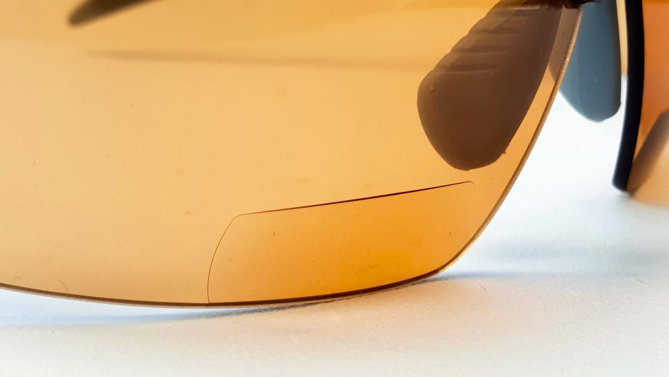 BZ Optics photochromic bi-focals - detail