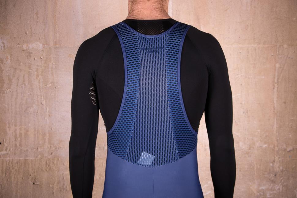 Cafe du Cycliste Adele Cobalt Blue Thermal Bib Shorts - straps back.jpg