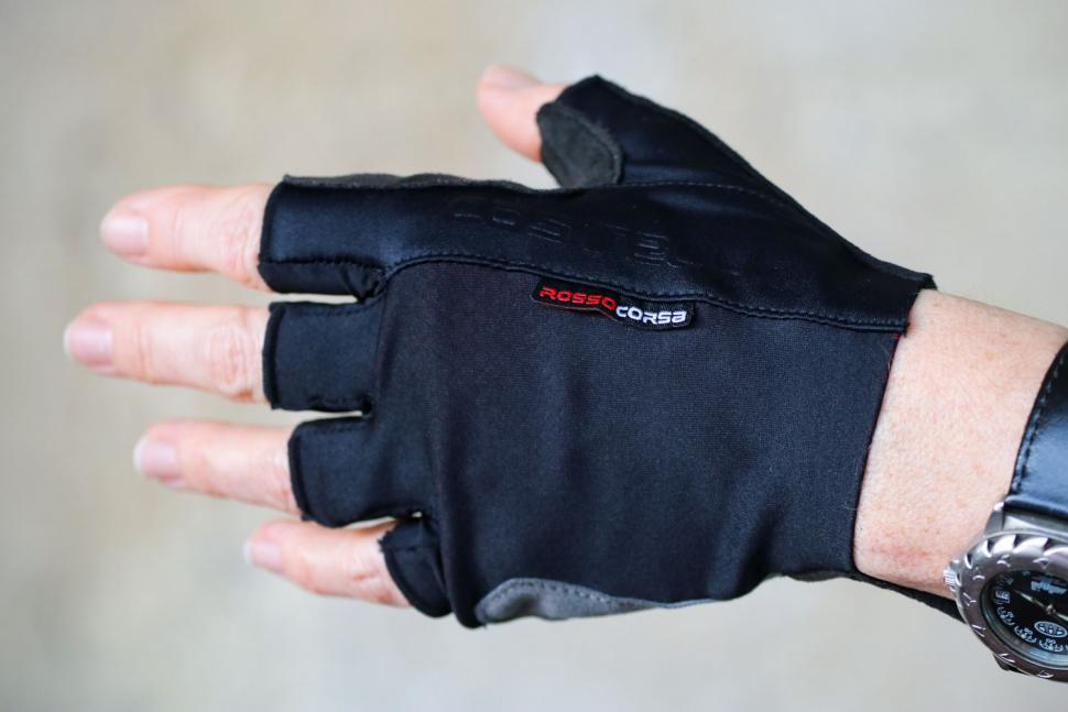 Castelli Rosso Corsa Espresso Glove - back of hand.jpg