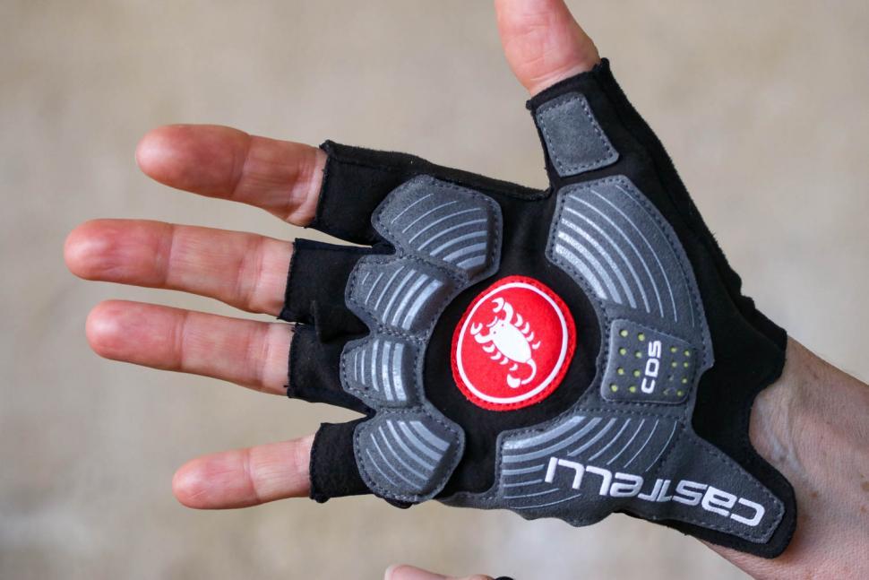 Castelli Rosso Corsa Espresso Glove - palm.jpg