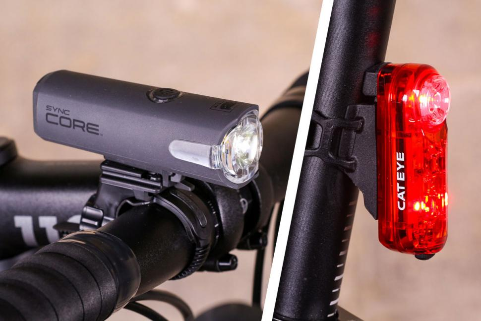 Pair Smart Go Glow 8 Front//Rear Led Bike Cycle Light Set With Brackets//Batteries