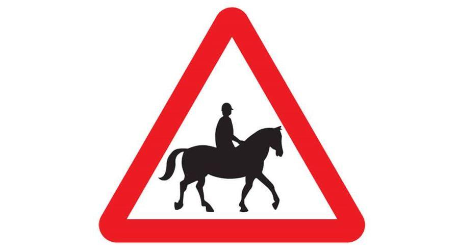 Caution - Horse and rider sign.JPG
