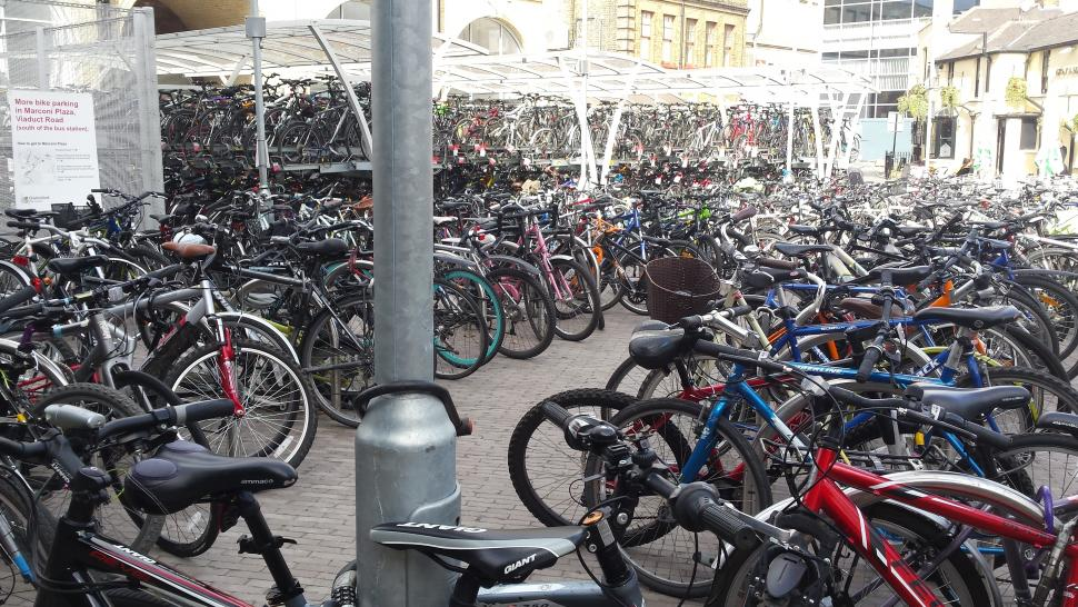 Chelmsford bike parking - image courtesy of Juliette Maxam (Abellio Greater Anglia)