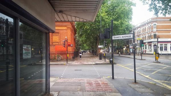 Chiswick High Road junction with Duke's Avenue (picture Simon MacMichael)