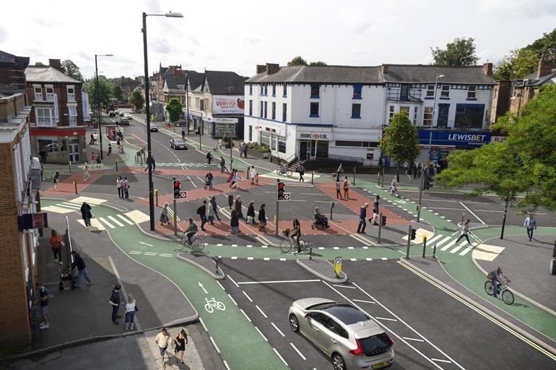 Chorlton Cycleway Wilbraham Road junction (Manchester City Council)