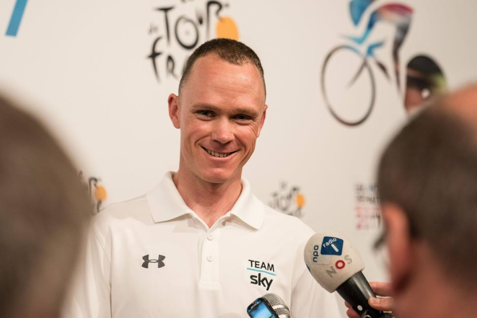 Chris Froome at pre-Tour de France 2017 press conference (picture credit Team Sky).jpg