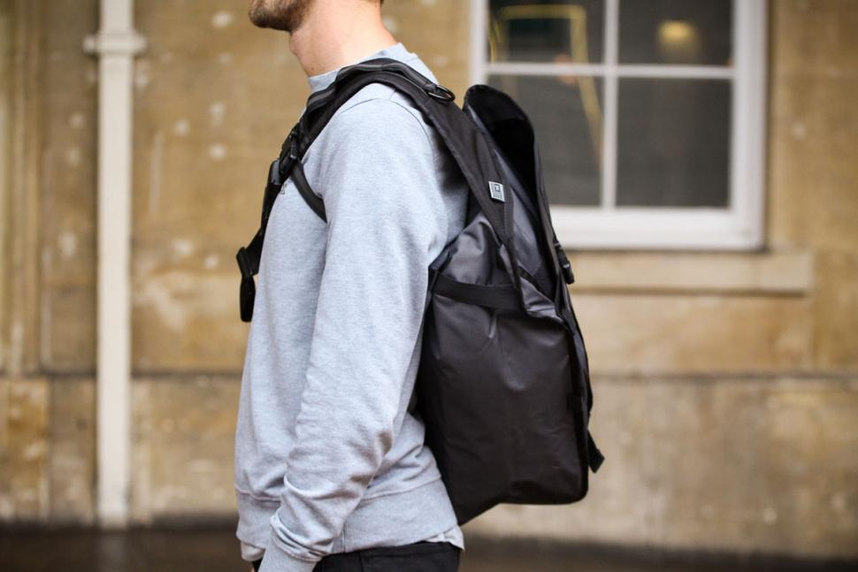 Black Leather backpack Citizen