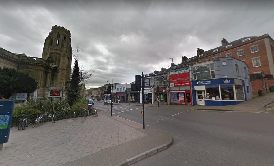 Clifton Triangle, Bristol (via StreetView)
