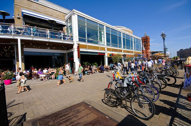 Cycle Parking in Cardiff Bay (picture via Visit Cardiff).jpg