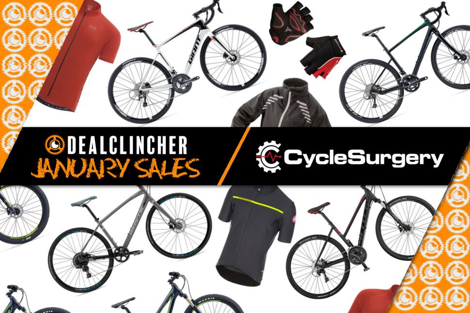 January Sale Cycle Surgery Deal Clincher Takeover   road cc