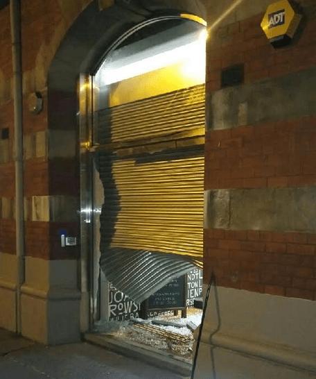 Cyclefit Manchester ram raid damage (courtesy Cyclefit).PNG