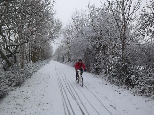 Cycling in the snow on the Bristol_Bath bike path.JPG