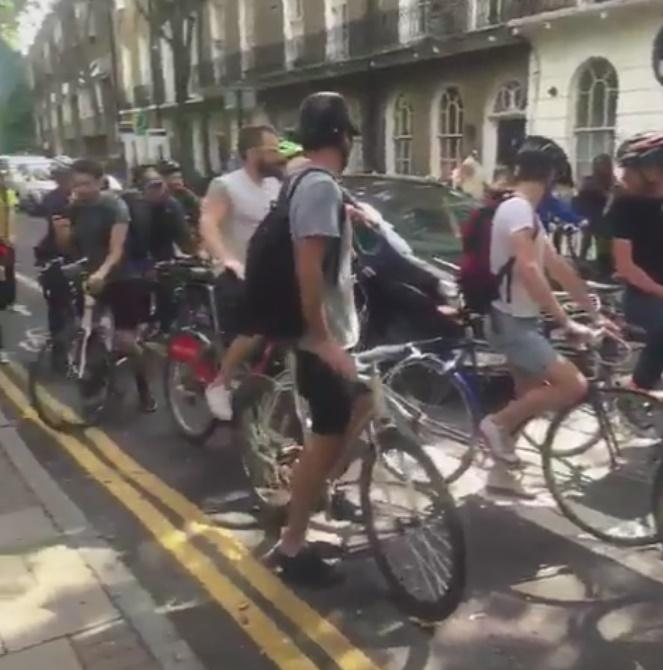 Cyclists block Boris Johnson's car (via Twitter).jpg