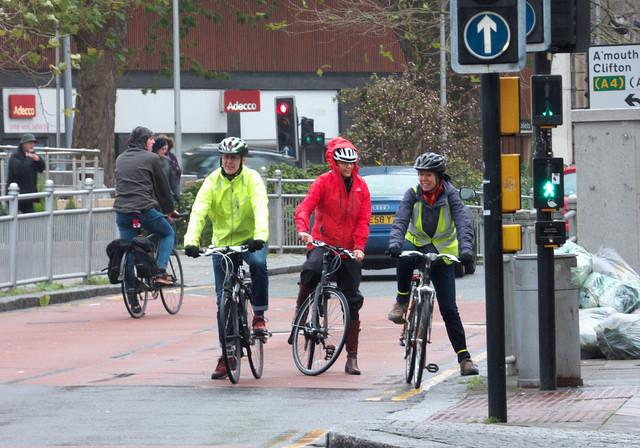Cyclists in Bristol (licensed CC BY-SA 2.0 by Sam Saunders on Flickr)