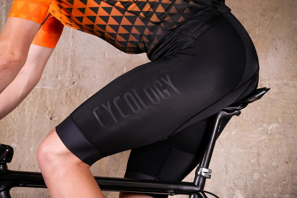 Cycology Men's Logo Bib Shorts - riding.jpg
