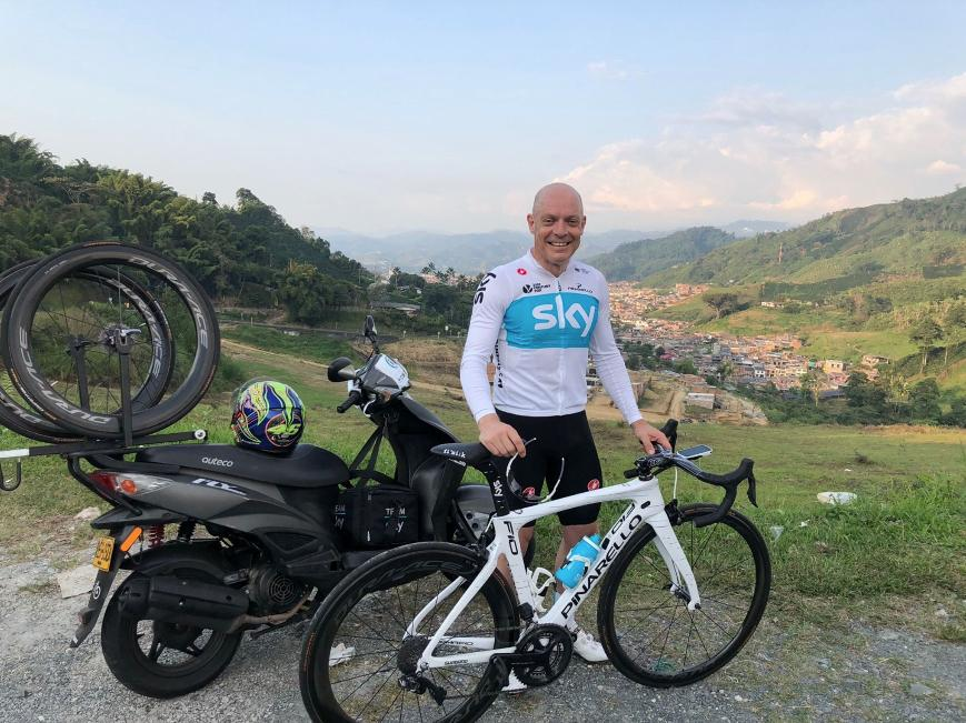Dave Brailsford - from Strava (credit Sir Dave Brailsford, via Strava)