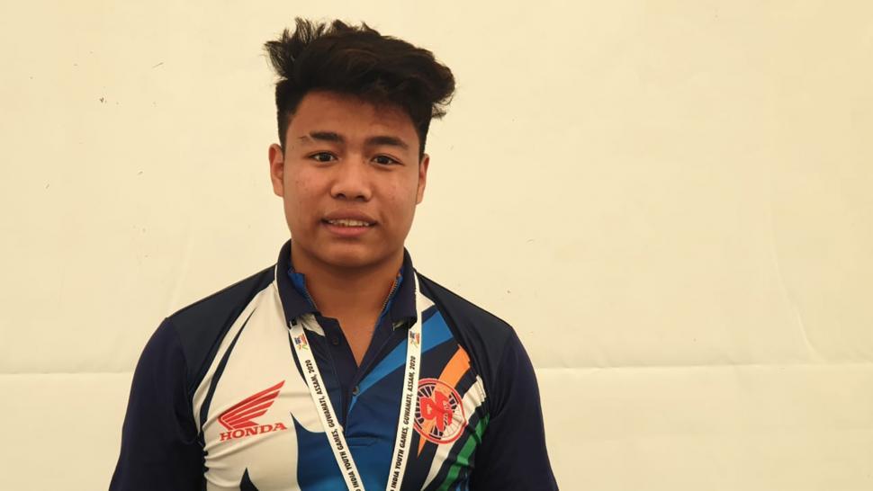 david beckham, the Indian cyclist - via Khelo India youth games