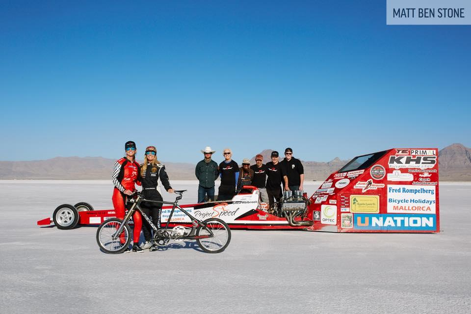 Denise Mueller-Korenek and world record breaking team (picture credit Matt Ben Stone)