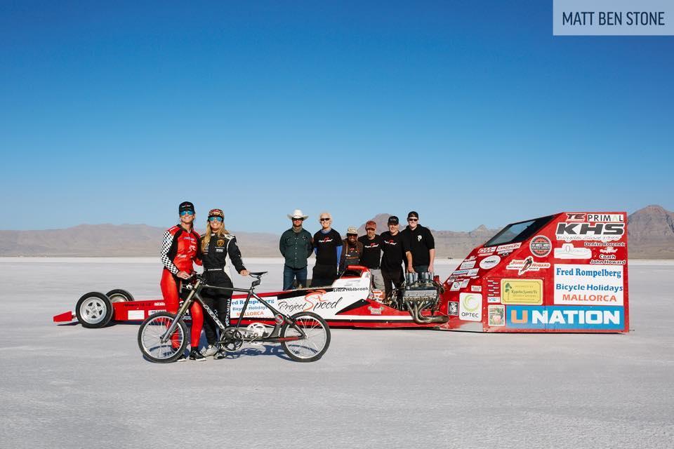 Denise Mueller-Korenek and world record breaking team (picture credit Matt Ben Stone)