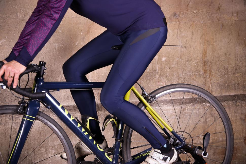 dhb Aeron FLT Womens Roubaix Halterneck Tight - riding.jpg