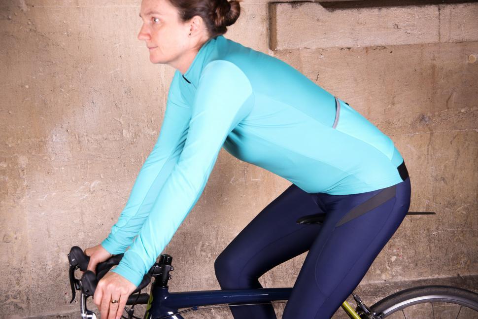 dhb Aeron Womens Roubaix Long Sleeve Jersey - riding.jpg