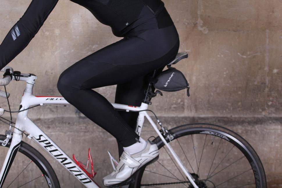 dhb ASV Roubaix Bib Tight Black Edition - riding.jpg