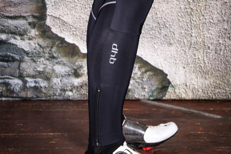 dhb Classic Thermal Bib Tights - ankle detail.jpg