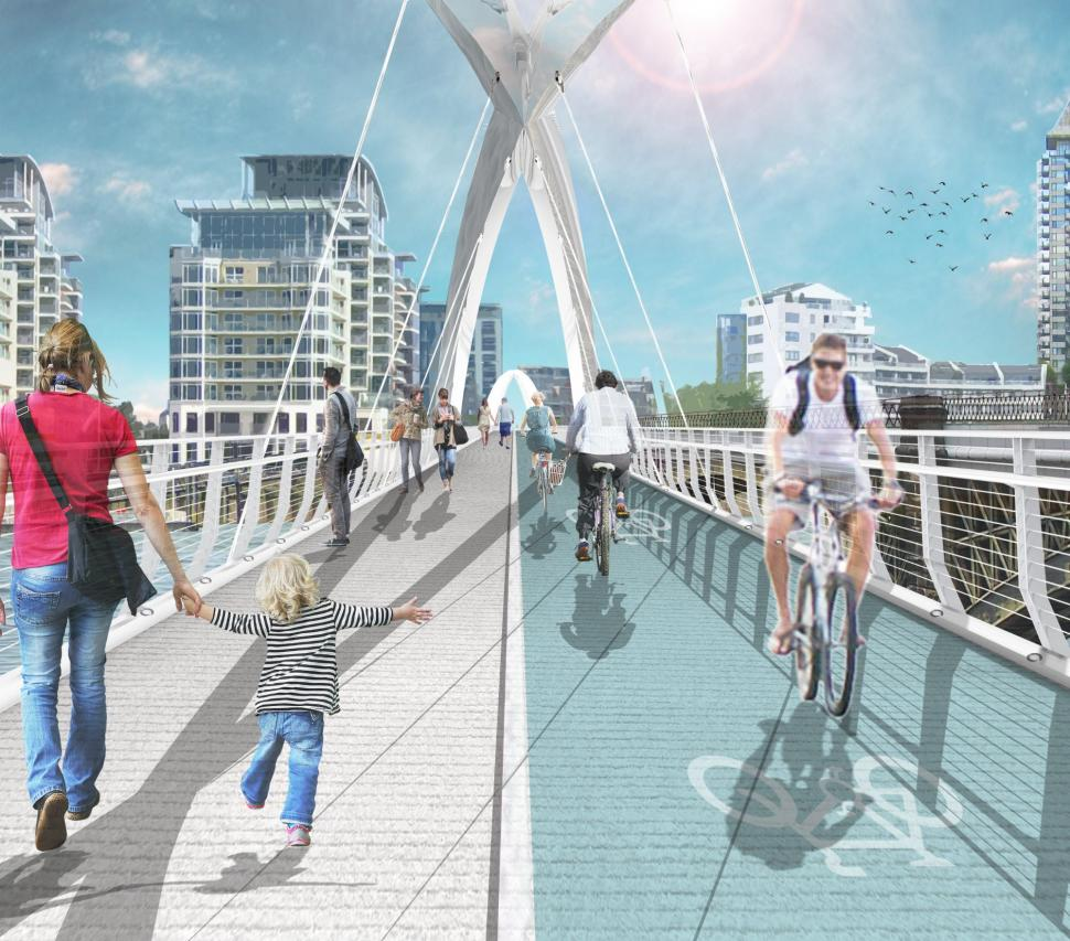 Planned cycling and walking bridge across Thames in London