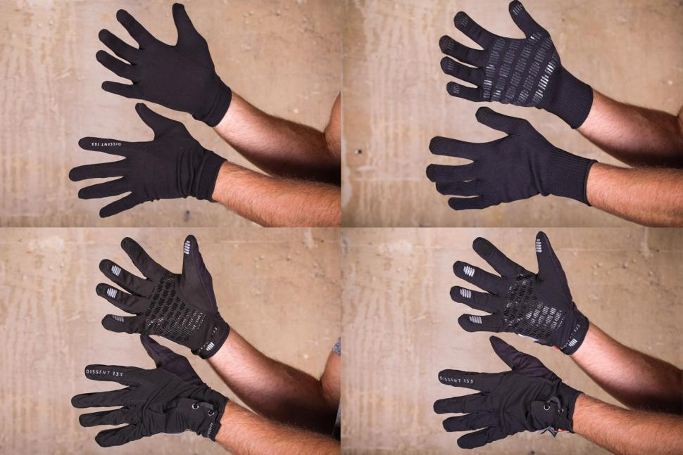 Dissent 133 Ultimate Cycling Glove Pack - layers.jpg